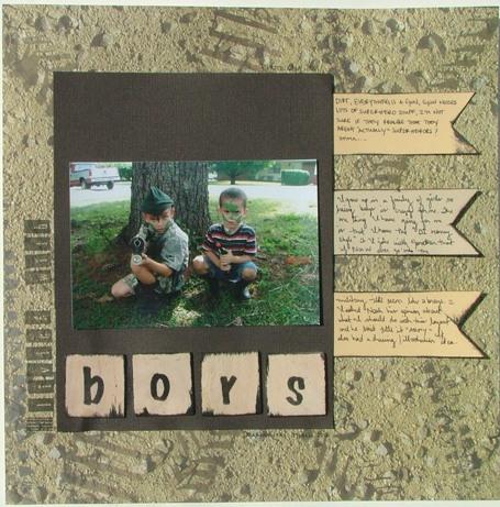 Scrapbooking Page Layout Christmas Boys and Atlanta