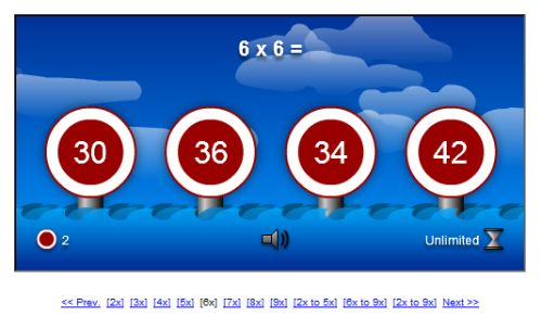 Multiplication table online games - Free online times tables games ...