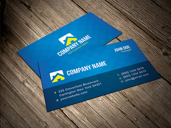 Free Blue Business Card Template Vector Download Free