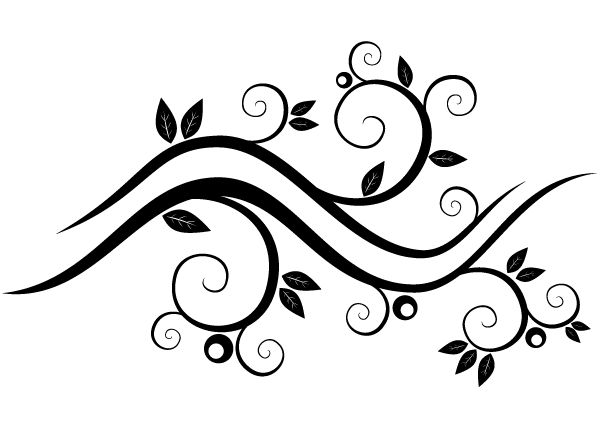 Vector Abstract Wavy Floral Design Download Free Vector