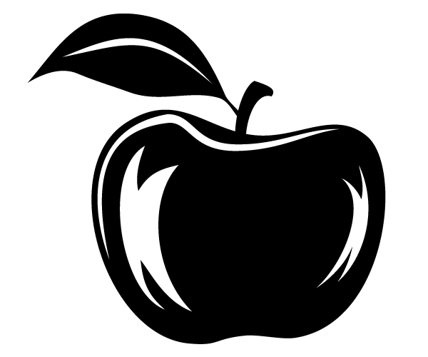 Apple Vector Silhouette Download Free Vector Art Free