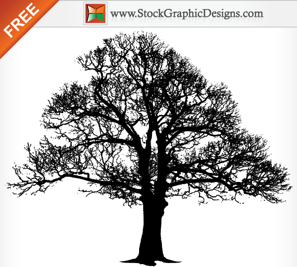 tree silhouette free vector