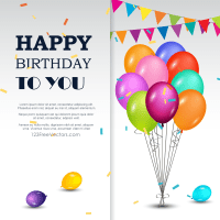 Happy Birthday Greetings Card | Download Free Vector Art ...