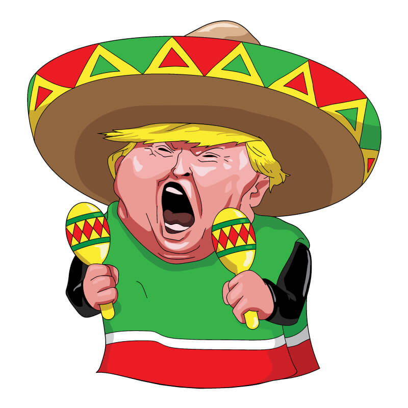 Trump The Mexican Vector Image Download Free Vector Art
