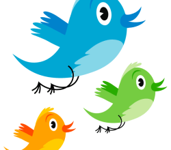 Vector Cute Twitter Bird