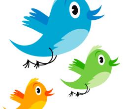 Vector Cute Twitter Bird