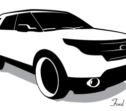 Ford Explorer Vector Image