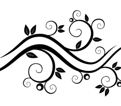 Vector Abstract Wavy Floral Design