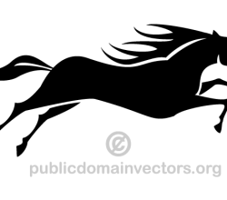 Running Horse Silhouette Image