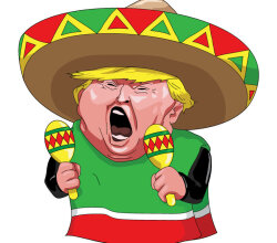 Trump the Mexican Vector Image