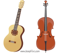 Acoustic Guitar & Cello Free Vectors