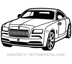 Rolls-Royce Car Clip Art Image