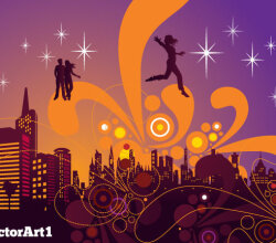 City Nightlife Free Vector Design