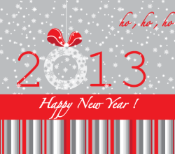 Happy New Year 2013 Vector Illustration