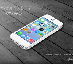 iPhone5 and iOS7 Illustration