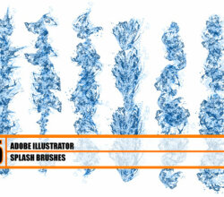 Hydronix – Water Splash Illustrator Brushes