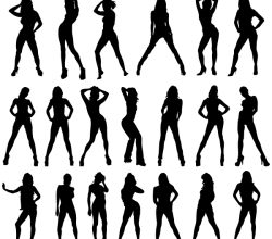Vector Girls Silhouettes Images