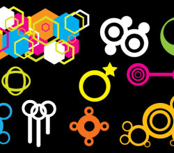 Colorful Geometric Shapes Free Vector Graphics