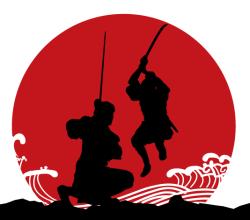 Vector Japanese Samurai Armor Silhouettes