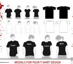 Tshirt Models Vector