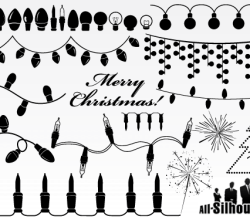 Christmas Light Garland Vector Clip Art