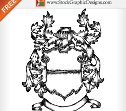 Medieval Ornate Heraldic Shield Free Vector Image