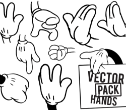 Free Hands Vector Illustrator Pack