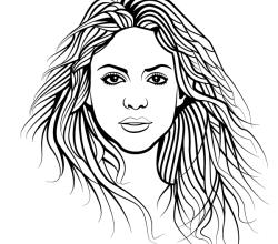 Shakira Vector Image