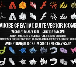 Vector Adobe Creative Suite Icons