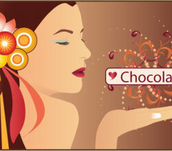 Chocolate Woman Vector