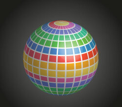 Mosaic Disco Ball Graphics