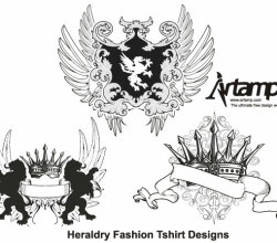 Heraldry Fashion Tshirt Design