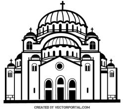 Church Vector Clip Art