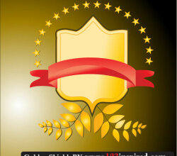 Golden Shield Free Vector