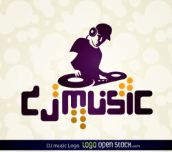 Dj Music Logo Free Vector