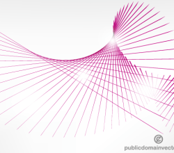 Vector Pink Curve Lines Background Illustration