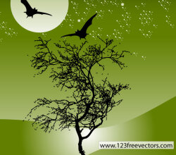 Nature Night Scene Vector