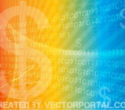 Vector Colorful Business Finance Background