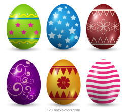 Decorated Easter Eggs Vector Art