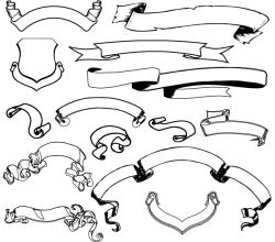 Ribbon Banner Free Illustrator Vector Pack