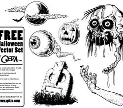 Halloween Free Vector Set