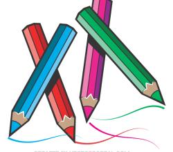 Vector Color Pencils