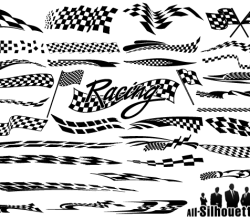 Free Racing Flags Vector