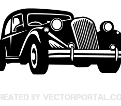Vector Retro Car Image
