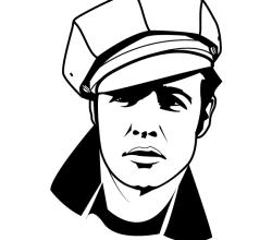 Marlon Brando Vector Image