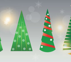 Vector Christmas Tree Image