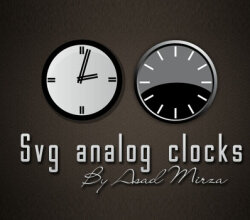 Vector Svg Analog Clocks