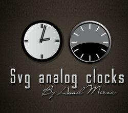 Vector Svg Analog Clocks