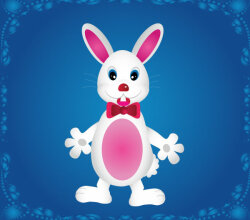 Cute Cartoon Bunny Rabbit Vector Art