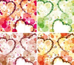 Free Valentines Day Background Vector Set